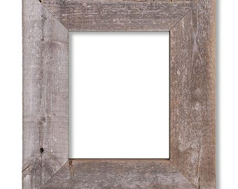 BarnWood Frame 11 x 14, Old Barn Wood, Recycled RePurposed ReUsed UpCycled Reclaimed, Vintage Farmhouse Wood Frames, Natural Gray Patina!
