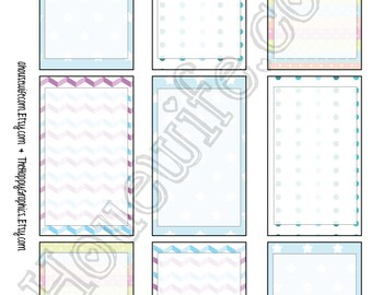 Happy Planner stickers [86] , Full box, A5 PDF, Instant download