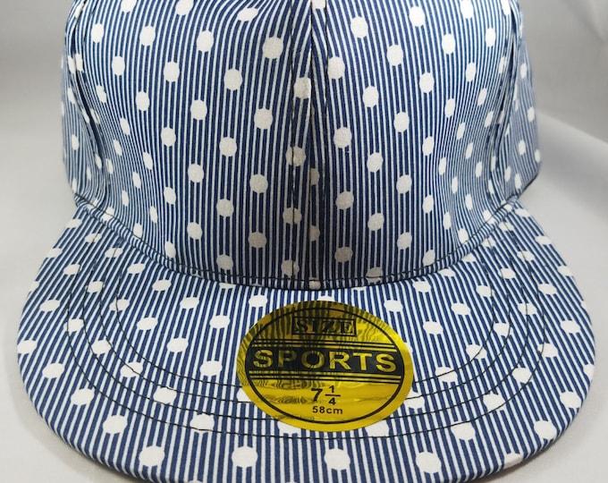 Blue Polka Dot Snapback Hat