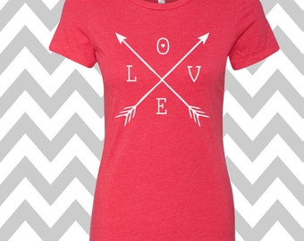 Arrows Love Womens Valentines Day Tee Womens Arrows Shirt Funny Love Arrows Shirt Valentines Day Shirt Valentines Shirt XOXO Tee