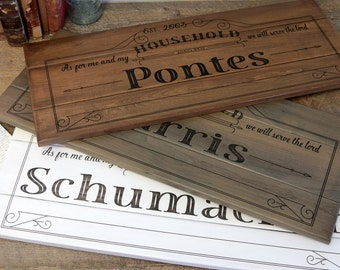 Family Established Sign/ Wedding Gift/Last Name Sign/ Custom Wood Sign/ Gift For Them/ Family Name Sign/ Personalized