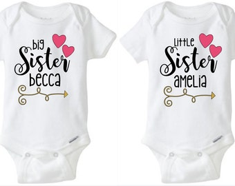Big Sister | Little Sister Onesies