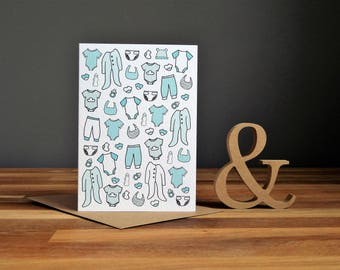 New baby boy greetings card