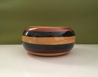 Vintage  Brown Multi Toned Ceramic Bowl