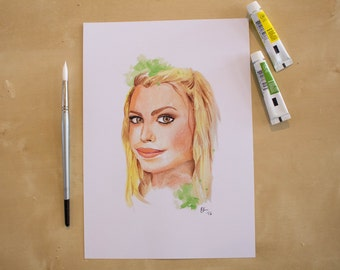 Rose Tyler - Billie Piper - Doctor Who - Watercolour Portrait Print
