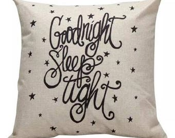 Goodnight Sleep TIght Pillow Cover