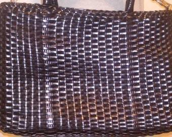 purse black woven