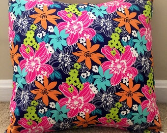 Bright, Floral 16x16 Decorative Pillow Cover