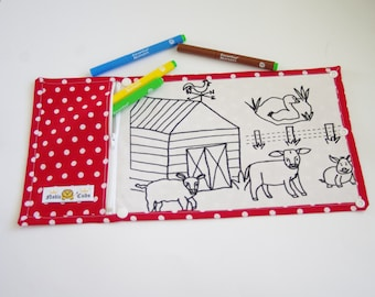 Noble Cubs Colouring in Mat - Farm Friends