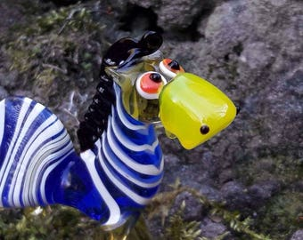 Glass Statuette Zebra Toys Glass Sculpture Paperweight character gift ideas for wife garden fantasy gift desk animal cute crystal Art