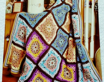 1995 The Needlecraft Shop Color Wheel Crochet Afghan Pattern