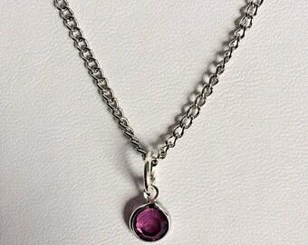 Swarovski Amethyst necklace