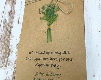 Affordable Wedding Favors - Wedding Favor - Garden Wedding - Herb Wedding - 60 packets - Wedding Dill seeds - Watch our love grow Love Grows