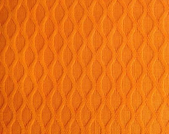Vintage Yellow-Orange Polyester Fabric -- 44 inches wide -- by the yard