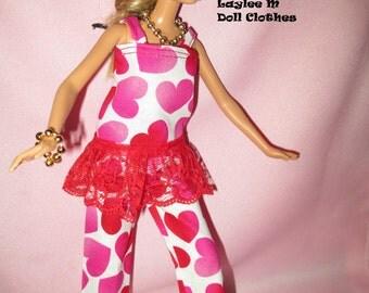 Barbie Doll Pajama-Big Hearts Pajama 2 piece- FREE SHIPPING