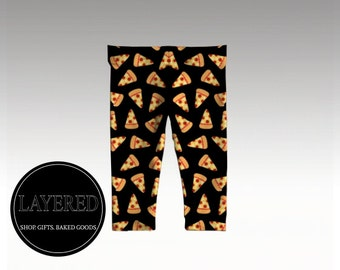Pizza Night- Baby Leggings- Baby Clothes - Gender Neutral - Hipster Baby Clothes