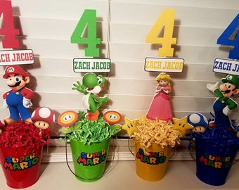 Mario Brothers Centerpiece-Set of 4