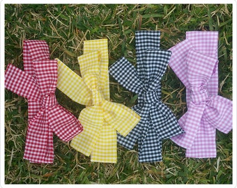 Gingham slim head wrap - headwrap - checker headwrap - baby headwrap - gingham fabric head wrap