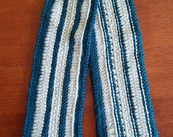 Crocheted Scarf with Fringe