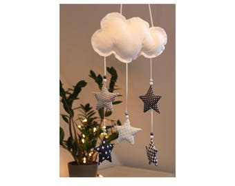 "Baby mobiles ""Blue Star"" for the nursery (hand made)"