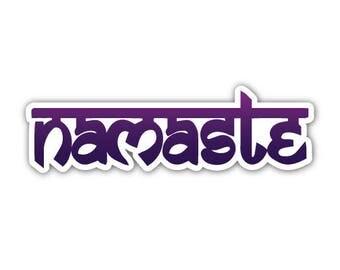 "Purple Namaste 7"" Sticker"