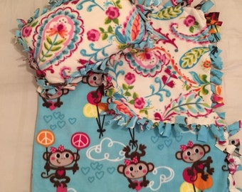 Monkey-n-Around Toddler Blanket & Pillow