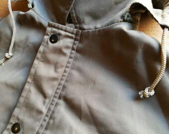 PARKA BEIGE / / vintage clothing / / gift for man / / winter / / brown / / anorak / / vintage jacket / / hooded jacket