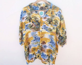 HAWAIIAN SHIRT / / vintage clothing / / unisex / / oversized / / shirt vintage / / hawaii / / summer vibes / / surf / / vintage calamity