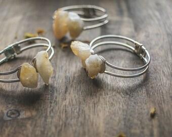Citrine bangle | handmade citrine bracelet