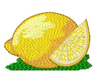 Lemon Machine Embroidery Design, 4x4 Hoop Size, Instant Download, 8 Formats