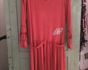 SALE / bargain 1920s dress silk red 30s