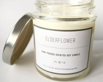 Elderflower - Handmade, scented soy wax candle