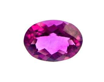 One Dark Pink Tourmaline 1.25 carat Oval Checker-Cut, Loose Gemstone w/ IAS Jewelry Appraisal WAS 920 NOW 650!