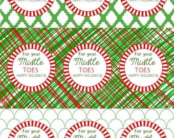 "MIstle ""TOES"" Holiday Gift Tag for Nail Polish Set"