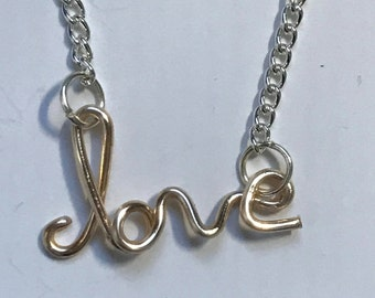 Love Wire Necklace