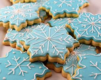 Large Snowflake Cookies - 1 Dozen