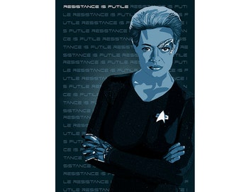 Seven of Nine Poster - Star Trek Voyager Poster - Resistance is Futile