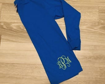 Monogrammed Long Sleeve Shirt Bottom Embroidery