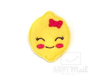 Kawaii Lemon Felties - CUT Felties - Set of 4