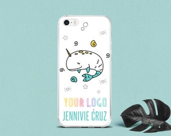 Phone Case narwhal iPhone 7 5 5S SE 6 cases Narwhal, iPhone 6 7 plus cell phone case, Business Card Cell Phone Case Design - Custom