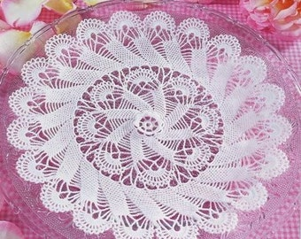 Sale! White crochet doily black crochet doily 10.25 inches