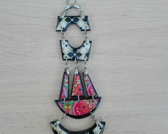 Necklace and pendant wood Casual Boho ethnic