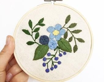 Blue hue floral scape