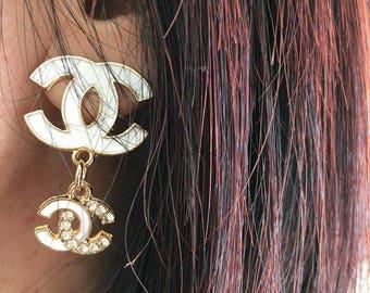 Total white earring