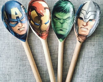 The Avengers Wooden Spoon x4