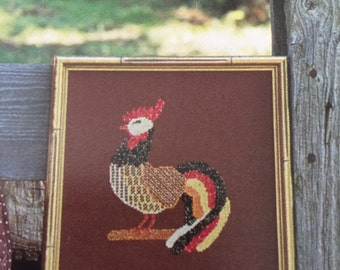 Vintage Just Us Chickens by Joan Green and Karen Nordhausen counted cross stitch booklet