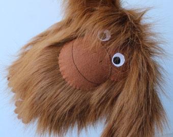 Stuffed Animal Toy, Tang the Orangutan, Brown Furry Plushie, Large 30cm, Soft Toy