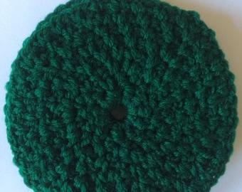 Green Crochet Coasters - Set of 4 Green Coasters - Round Coasters - House Warming Gift - Tea Coasters
