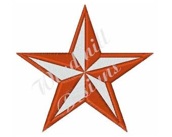 Western Star - machine embroidery design