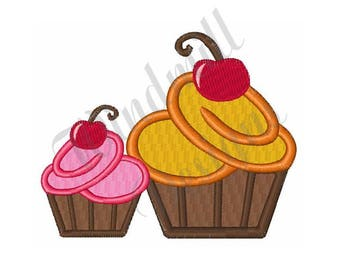 Cherry Cupcakes - Machine Embroidery Design
